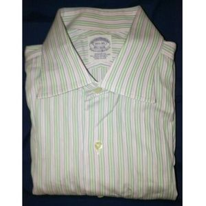 Brooks Brothers 15.5x33 Egyptian Italy Woven Shirt